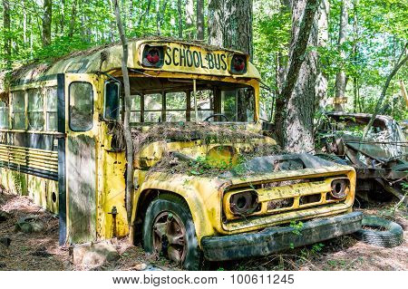 Yellow Chevrolet School Bus