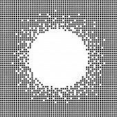 Постер, плакат: Decorative frame with copy space for text Pixel background Monochrome