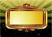 picture of marquee  - Vector illustration of retro illuminated Movie marquee Blank sign - JPG