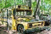 Постер, плакат: Yellow Chevrolet School Bus
