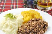 picture of haggis  - Haggis neaps and tatties or haggis turnip and potoato - JPG
