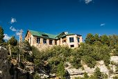 stock photo of grand canyon  - lodge at the north rim of the grand canyon - JPG