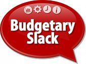Blank business strategy concept infographic diagram illustration Budgetary Slack poster