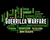 Постер, плакат: Guerrilla Warfare Shows Resistance Fighter And Clashes