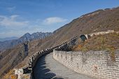 stock photo of qin dynasty  - The Great Wall is the greatness of ancient Chinese buildings - JPG
