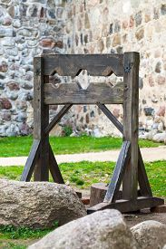 image of torture  - Old wooden medieval torture device - JPG