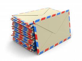 stock photo of three dimensional shape  - letter - JPG