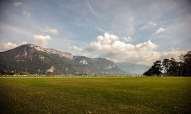 image of annecy  - Lakefront park in Annecy - JPG