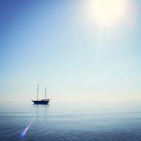 stock photo of sailing vessels  - Sailing ship profile - JPG