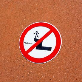 picture of street-walker  - traffic sign riverside pedestrian walker  - JPG