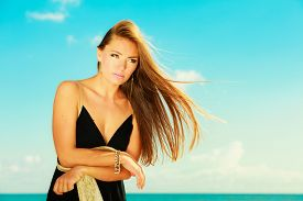picture of flutter  - Holidays summertime travel and freedom concept - JPG