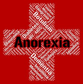 picture of bulimic  - Anorexia Word Showing Ill Health And Bulimia - JPG