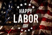Happy Labor day banner, american patriotic background poster