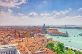 Panoramic View Of Venice From The Campanile Tower Of St. Marks Cathedral-  St. Marks Square (piazz poster