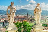 Beautiful Landscape Above, Panorama On Historical View Of The Florence From Boboli Gardens (giardino poster