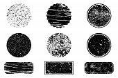 Grunge Post Stamps Collection, Circles. Banners, Logos, Icons, Labels And Badges Set . Vector Distre poster