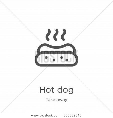 poster of Hot Dog Icon Isolated On White Background From Take Away Collection. Hot Dog Icon Trendy And Modern
