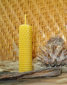foto of taper  - the hand rolled natural beeswax candles taper