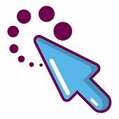Cursor Loading Icon. Cartoon Illustration Of Cursor Loading Icon For Web poster