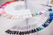 The Palette Of Nail Polish, An Unusual Palette Of Nail Polish, Whirling Palette poster