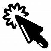 Cursor Technology Icon. Simple Illustration Of Cursor Technology Icon For Web poster