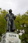 Goya Statue In Madrid