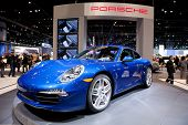 CHICAGO - FEB 12: The 2013 Porsche Carrera on display at the 2012 Chicago Auto Show. February 12, 20