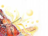 Cello Orchestra Musical Instrument Playing Cellist Musician. Hand Drawn Digital Illustration. Music  poster