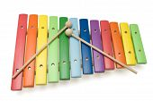 Toy Colorful Xylophone, Isolated, With Clipping Path