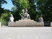 Monument At Lazienki Baths Park In Warsaw European Capital City Of Poland With Clear Blue Sky In 201 poster