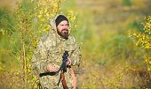 Harvest Animals Typically Restricted. Hunting Hobby Concept. Experience And Practice Lends Success H poster
