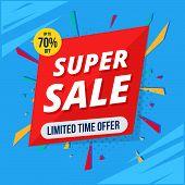 Super Sale Poster, Banner. Big Sale,75% Off. Vector Illustration.ai poster