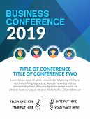 Business Conference Simple Template Invitation. Geometric Magazine Conference Or Poster Business Mee poster