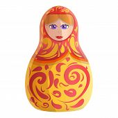 Decor Nesting Doll Icon. Cartoon Of Decor Nesting Doll Icon For Web Design Isolated On White Backgro poster