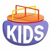 Kids Merry-go-round Logo. Cartoon Of Kids Merry-go-round Logo For Web Design Isolated On White Backg poster