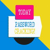 Conceptual Hand Writing Showing Password Cracking. Business Photo Text Measures Used To Discover Com poster
