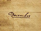 foto of annal  - a photo of 100 years old handwritten december - JPG