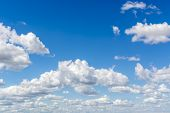 Blue Sky And Clouds Sky, Sky Background With Tiny Clouds, Strom Clouds. poster
