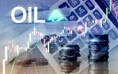 Oil Trend Up. Crude Oil Price Stock Exchange Trading Up. Price Oil Up. Arrow Rises. Abstract Busines poster