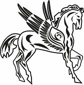 stock photo of pegasus  - vector illustration of pegasus  - JPG