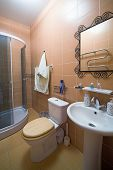 image of shower-cubicle  - Bathroom with a shower cubicle in flat - JPG
