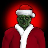 picture of festering  - A Zombie dressed up as Santa Claus - JPG