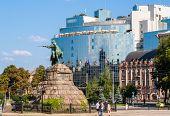 picture of hetman  - The Bogdan Khmelnitsky monument at Sofiyska Square in Kyiv Ukraine - JPG
