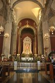 foto of guadalupe  - Beautiful altar of the old basilica of Our Lady of Guadalupe in Mexico City - JPG