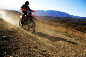 foto of extreme close-up  - close up of moto racer en route - JPG