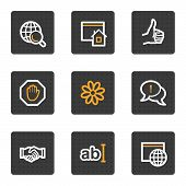 stock photo of internet icon  - vector web icons grey square buttons series - JPG