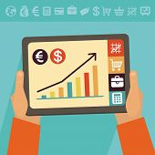 image of electronic banking  - Vector online banking concept  - JPG