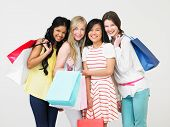 pic of 15 year old  - Group Of Teenage Girl With Shopping Bags - JPG
