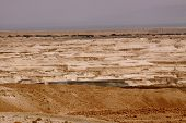 picture of jericho  - Looking down from the top of the Masada mountain in Israel - JPG