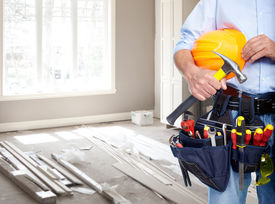 pic of handyman  - Handyman with a tool belt - JPG